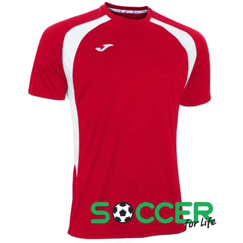 Футболка игровая Joma Champion III 100014.602 красно-белая. В наличии 066211ef212