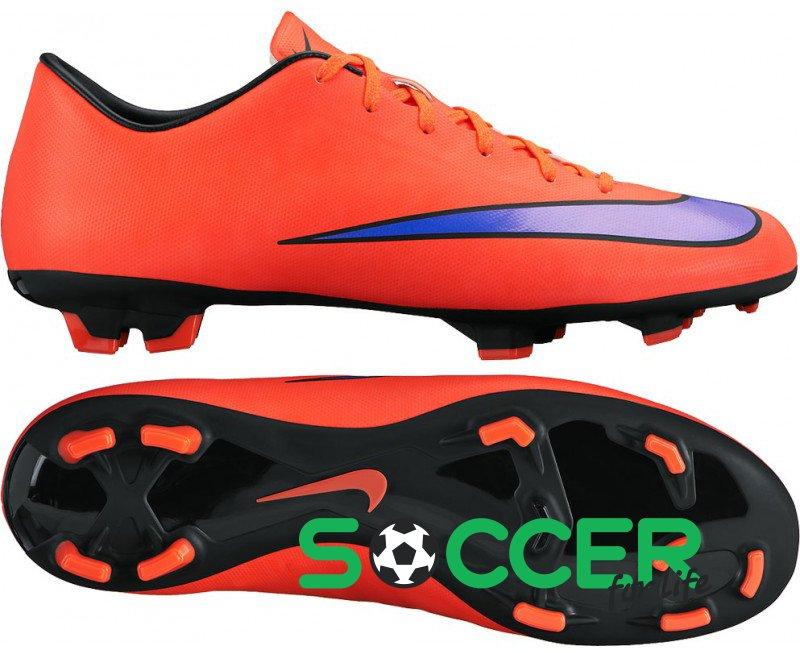 Заказать Бутсы Nike MERCURIAL VICTORY V FG 651632-650 цвет  красный ... be1a5bf4240