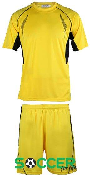 Форма футбольная ZEL-SPORT взрослая РАСПРОДАЖА цвет  желтый 213904c1b64