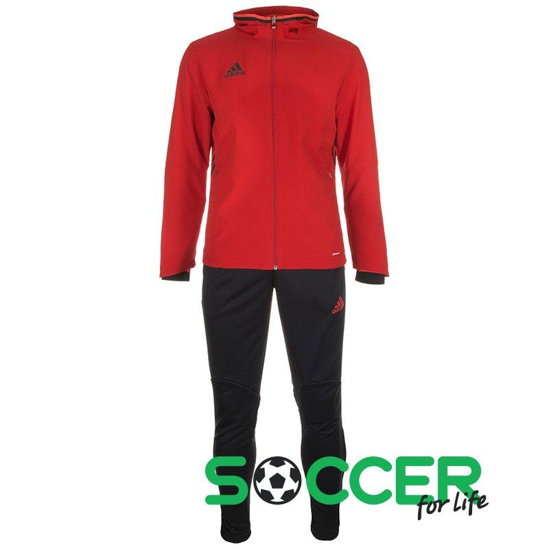4c974363 Спортивный костюм Adidas Condivo 16 Presentation Suit S93518 цвет:  красный/черный мужской