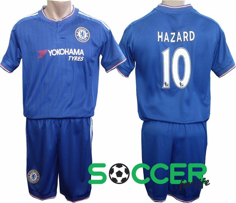 Футбольная форма детская Челси (Chelsea) 2016 HAZARD №10 РАСПРОДАЖА цвет   синяя 9771342f4e5