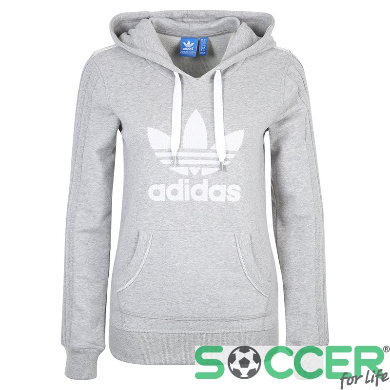 b967aa3b Толстовка Adidas SLIM HOODIE AJ7628 с капюшоном женская цвет: серый