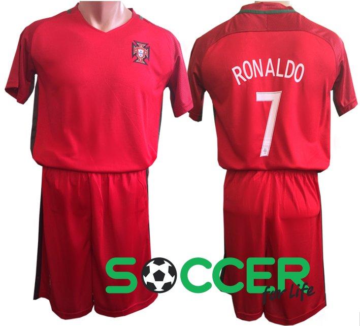 Купить Футбольная форма детская Португалия красная Ronaldo№7 2016 ... 6099bcf654c
