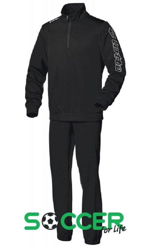ecc46ea0b186 Спортивный костюм Lotto SUIT ZENITH PL HZ CUFF JR Q8078 детский цвет: черный
