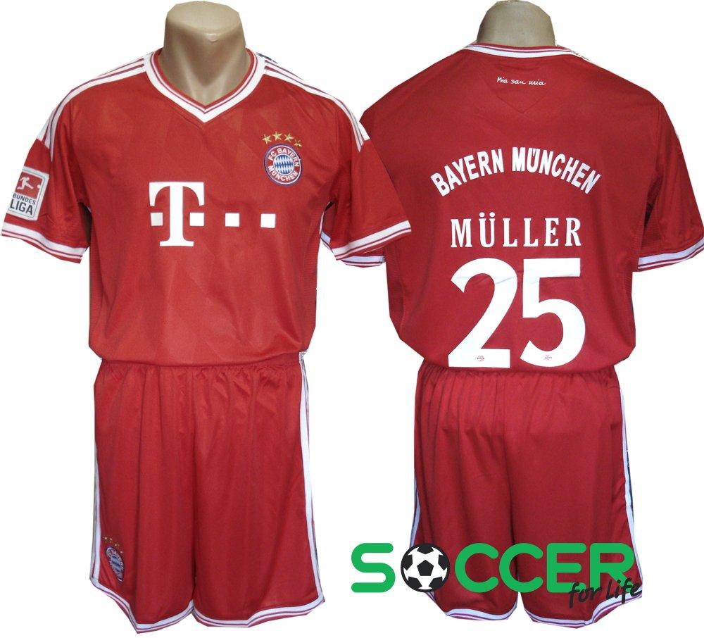 83b4e322afb3 Футбольная форма детская Бавария Мюнхен (Bayern Munchen) Muller №25 красная