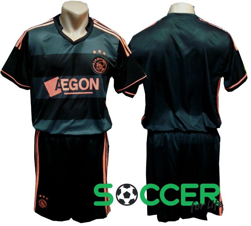 Футбольная форма Аякс (Ajax) без номера на спине РАСПРОДАЖА цвет  черная 60ca337fa93