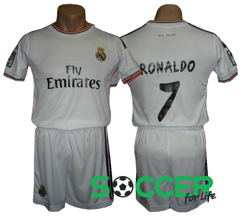 Купить Футбольная форма детская Реал (Real Madrid) белая RONALDO №7 ... 7672b7f012b