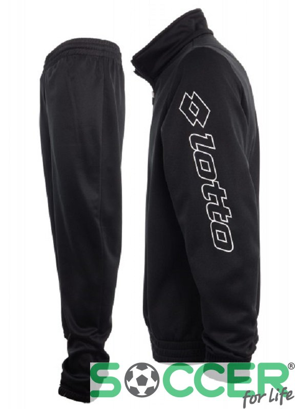 1a1cf72c20e1 Спортивный костюм Lotto SUIT ZENITH PL HZ CUFF JR Q8078 детский цвет:  черный. ‹ ›