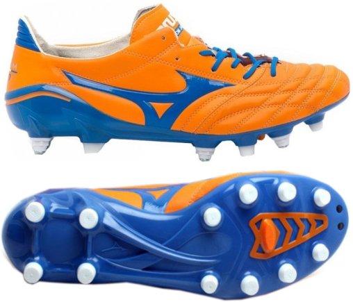 8de4eb44 Купить Бутсы Mizuno Morelia NEO MD 12KP305 Цвет: оранжевый/синий у нас.