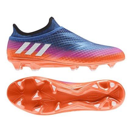 2b1487b4 Бутсы Adidas MESSI 16+ PUREAGILITY FG BB1871 цвет: синий/розовый/оранжевый (