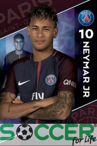 Постер Пари Сен Жермен Неймаh 10 Paris Saint Geermain F.C. Neymar 10