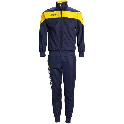 35a7cc9a Спортивный костюм Zeus TUTA APOLLO Z00410 цвет: темно-синий/желтый