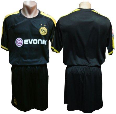 Футбольная форма Борусcия Дортмунд (Borussia Dortmund) черная без номера на спине