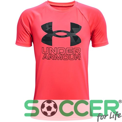 Футболка Under Armour Tech Hybrid Prt Fill SS-RED 1363281-628 дитяча