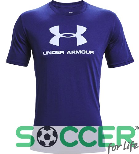Футболка Under Armour Sportstyle Logo SS-BLU 1329590-415