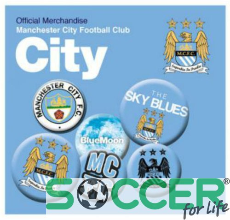Набор значков Manchester City F.C. Button Badge Set (комплект значков Манчестер Сити) 6 штук