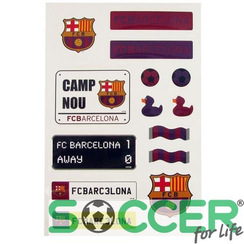 Набор наклеек F.C. Barcelona Sticker Set (комплект наклеек Барселона) 14 штук