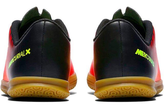 official photos 76926 014ef Обувь для зала NIKE JR MERCURIALX VORTEX III IC 831953-870 детская  РАСПРОДАЖА цвет: красный/черный/желтый (официальная гарантия)