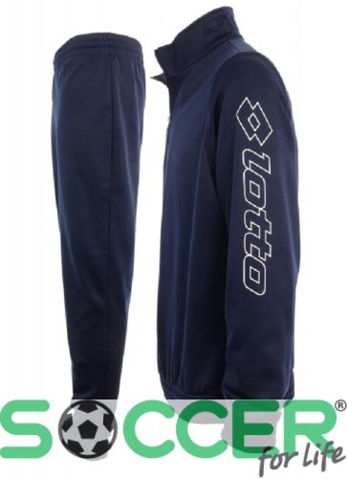 84181e81c95b Спортивный костюм Lotto SUIT ZENITH PL HZ CUFF JR Q8143 детский цвет:  темно-синий