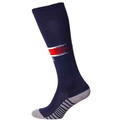 Детские футбольные гетры бордового цвета
