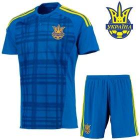 dd91e9e2 Футбольная форма детская сборной Украины (Ukraine) без номера на спине  РАСПРОДАЖА цвет: синяя