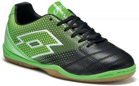 d14b6e1a Обувь для зала Lotto SPIDER 700 XIII ID JR S4017 цвет: черно-зеленые (