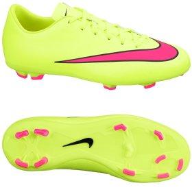 89a31ceb Бутсы Nike JR MERCURIAL VICTORY V FG 651634-760 цвет: салатовый/розовый  детские