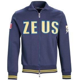 64735605 Спортивная кофта Zeus FELPA ZEUS BL/GI Z00765 цвет: темно-синий/желтый